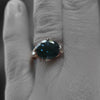 Romanesque Ring with London Blue Topaz
