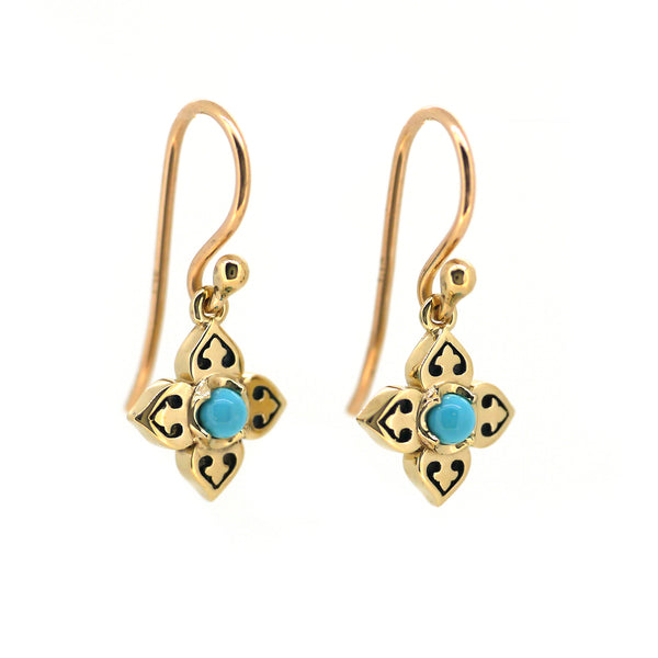 Edwardian Earrings with Turquoise