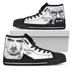 Express Delivery - White Breaking Bad High Top Shoes