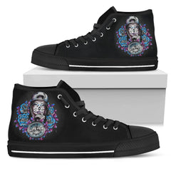 Express Delivery - Skull Girl High Top Shoes