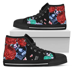Express Delivery - Butterflies Skull High Top Shoes