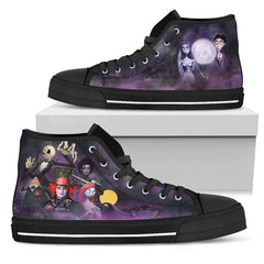 Express Delivery - Tim Burton Characters High Top Shoes