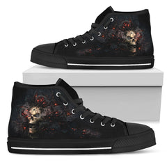 Express Delivery - Burnt Roses High Top Shoes