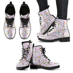 Express Delivery - Unicorn Pattern Leather Boots