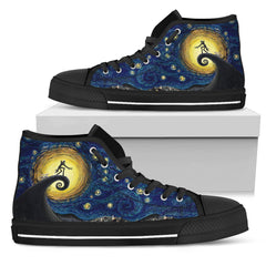 Express Delivery - Nightmare Before Christmas Starry Night Van Gogh High Top Shoes
