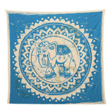 HUGE 4.75 x 4.75 feet Zodiac Horoscope Tapestry Indian Astrology Hippie Wall Hanging Ethnic Decorative Art