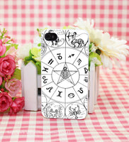 SIMPLE ZODIAC Hard White Cover Case for iPhone 4 4s 5 5s 5c 6 6s