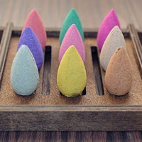 50Pcs Natural Reflux Tower Incense Tea Smoke Backflow Aromatherapy Cones