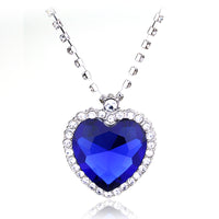 Crystal Titanic Heart of Ocean Love Necklaces Pendant.
