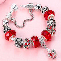 Classic Silver Charm Bracelet With Murano Glass Beads Bracelets Jewelry Gift