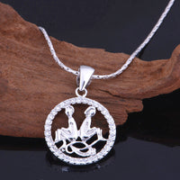 NEW Silver Color Cubic Zirconia Necklace Constellation Choker Women Jewelry