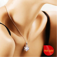 NEW SEXY 12 Constellation silver plated Pendant necklace women Wedding jewelry Heart & Arrows Cutting Crystal Pendant Necklaces