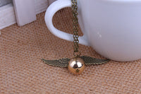 Hallows Vintage Retro Angel Wings Pendant Necklace