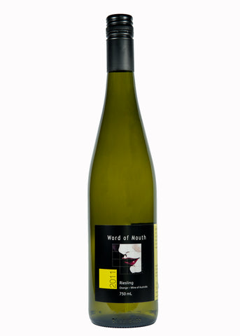 Word of Mouth Wines,2018 Riesling, a Natural wine, Vegan friendly, great with seafoods