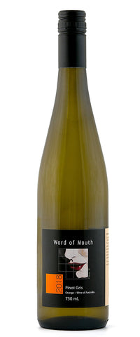 Mouth Wines Pinot Gris 2108, a natural wine, Vegan friendly