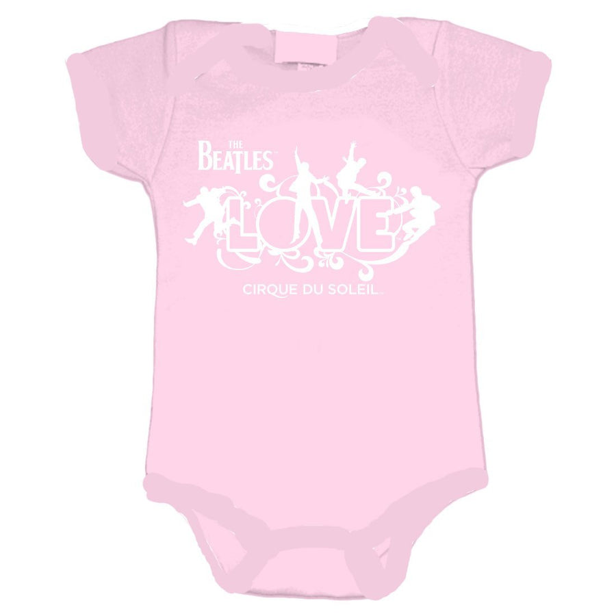 88a722e52 The Beatles Love Logo - Infant Pink Onesie