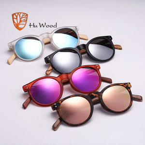 HU WOOD Clear Oval Frame Sunglassess