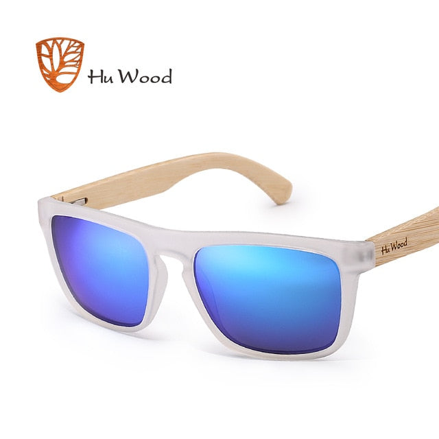 HU WOOD Natural Zebra Bamboo Sunglasses