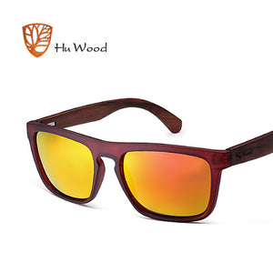 HU WOOD Natural Bamboo Zebra Wood Sun Glasses (UV400)
