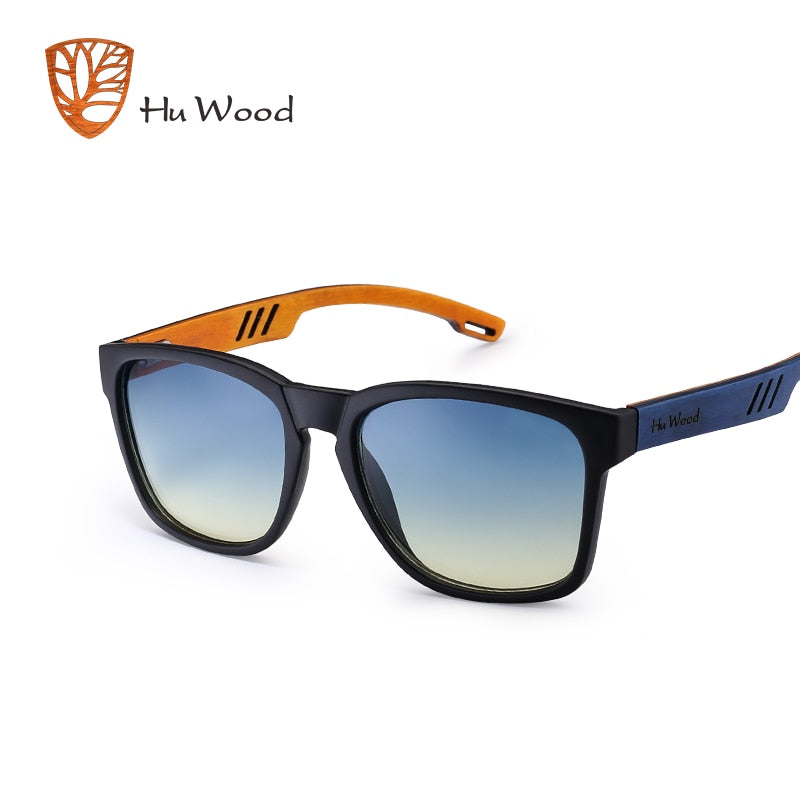 HU WOOD Skateboard Wood Sunglasses (Multi Color) W/ Anti-glare GR8011