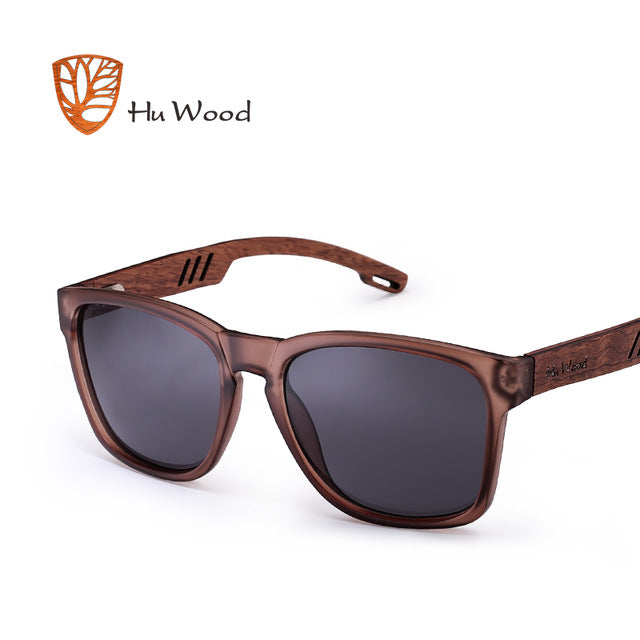 HU WOOD Skateboard Wood Sunglasses (Cedar) W/ Anti-glare GR8011