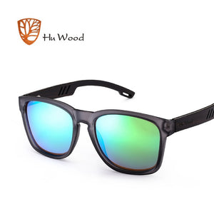 HU WOOD Skateboard Wood Sunglasses W/ Anti-glare GR8011