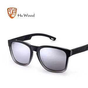 HU WOOD Skateboard Wood Sunglasses (Black) W/ Anti-glare GR8011