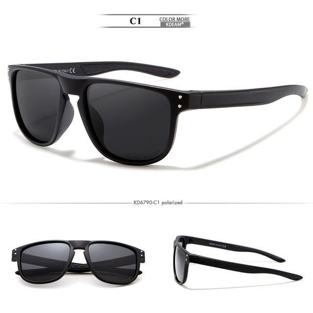 KDEAM Feather Sport Series(Blackr & Black) W/ Impact Coated Lenses & Hard Case