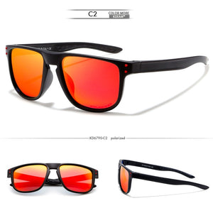 KDEAM Feather Sport Series(Black & Red) W/ Impact Coated Lenses & Hard Case