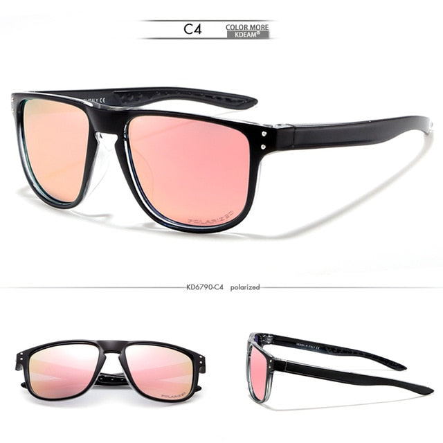 KDEAM Feather Sport Series(Black & Pink) W/ Impact Coated Lenses & Hard Case