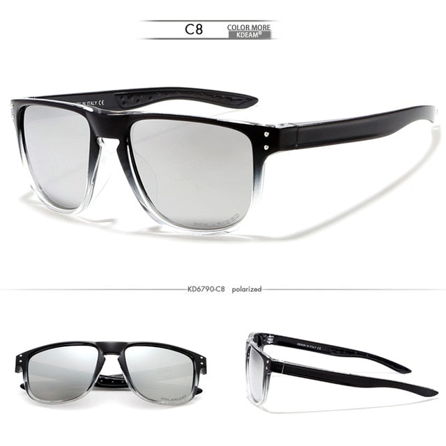KDEAM Feather Sport Series(Clear & Black) W/ Impact Coated Lenses & Hard Case