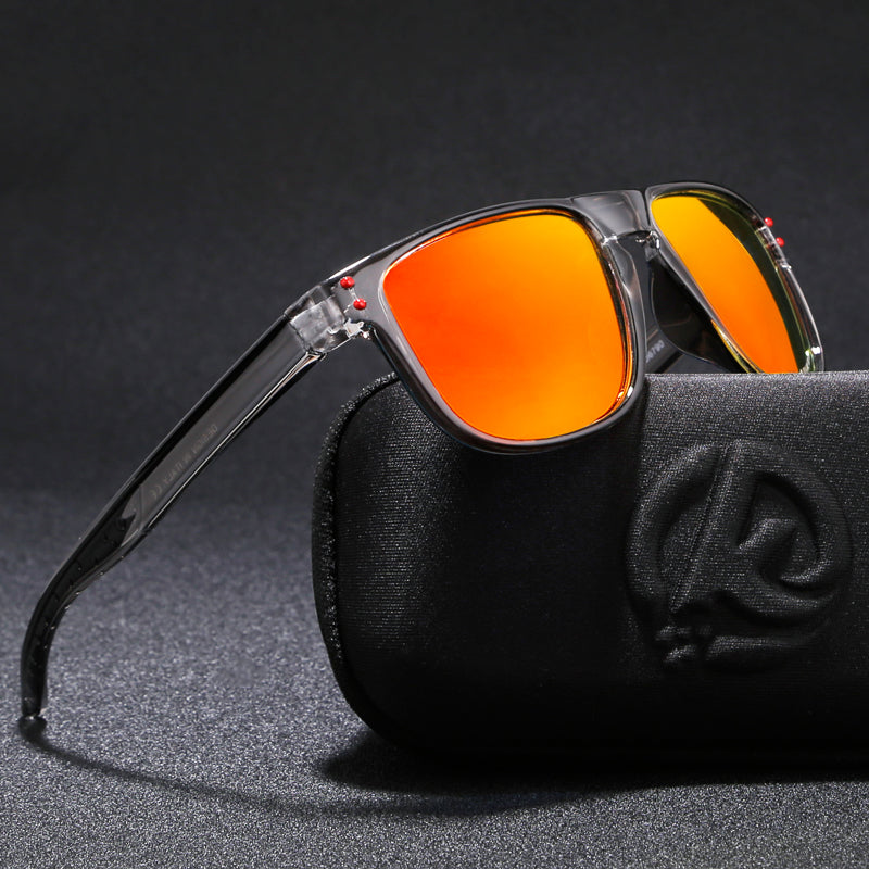 KDEAM Feather Sport Series(Clear & Orange) W/ Impact Coated Lenses & Hard Case