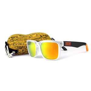Sport Designer Sunglasses Mirrored UV400 w/ Case