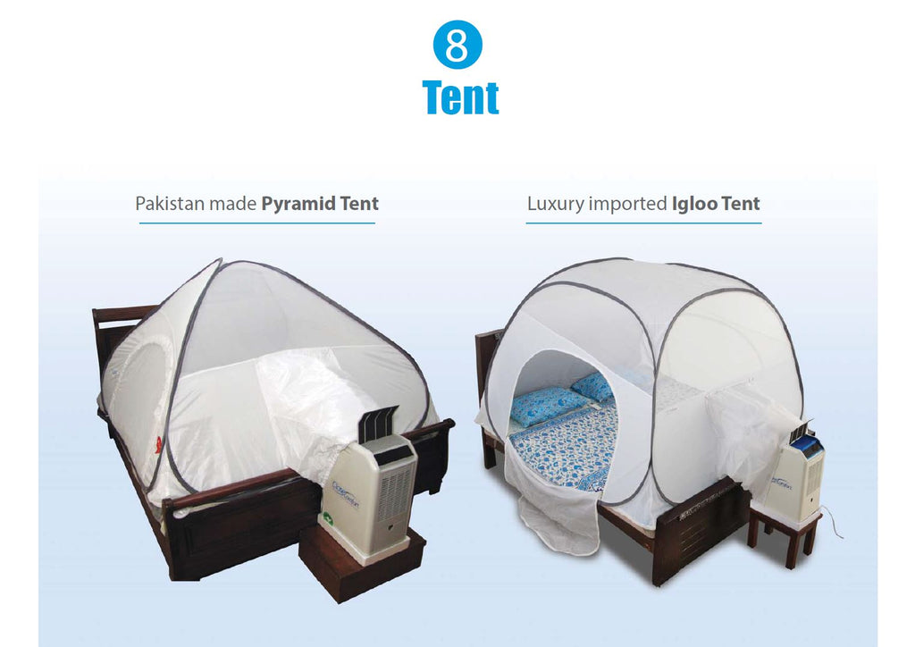 New luxury Igloo tent has lots of space: you can sit in the tent anytime of day to be cool