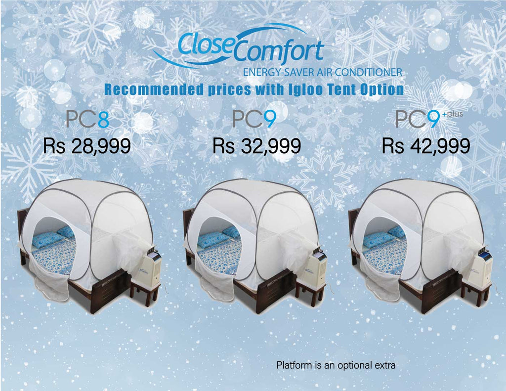 Model prices with Igloo Tent option