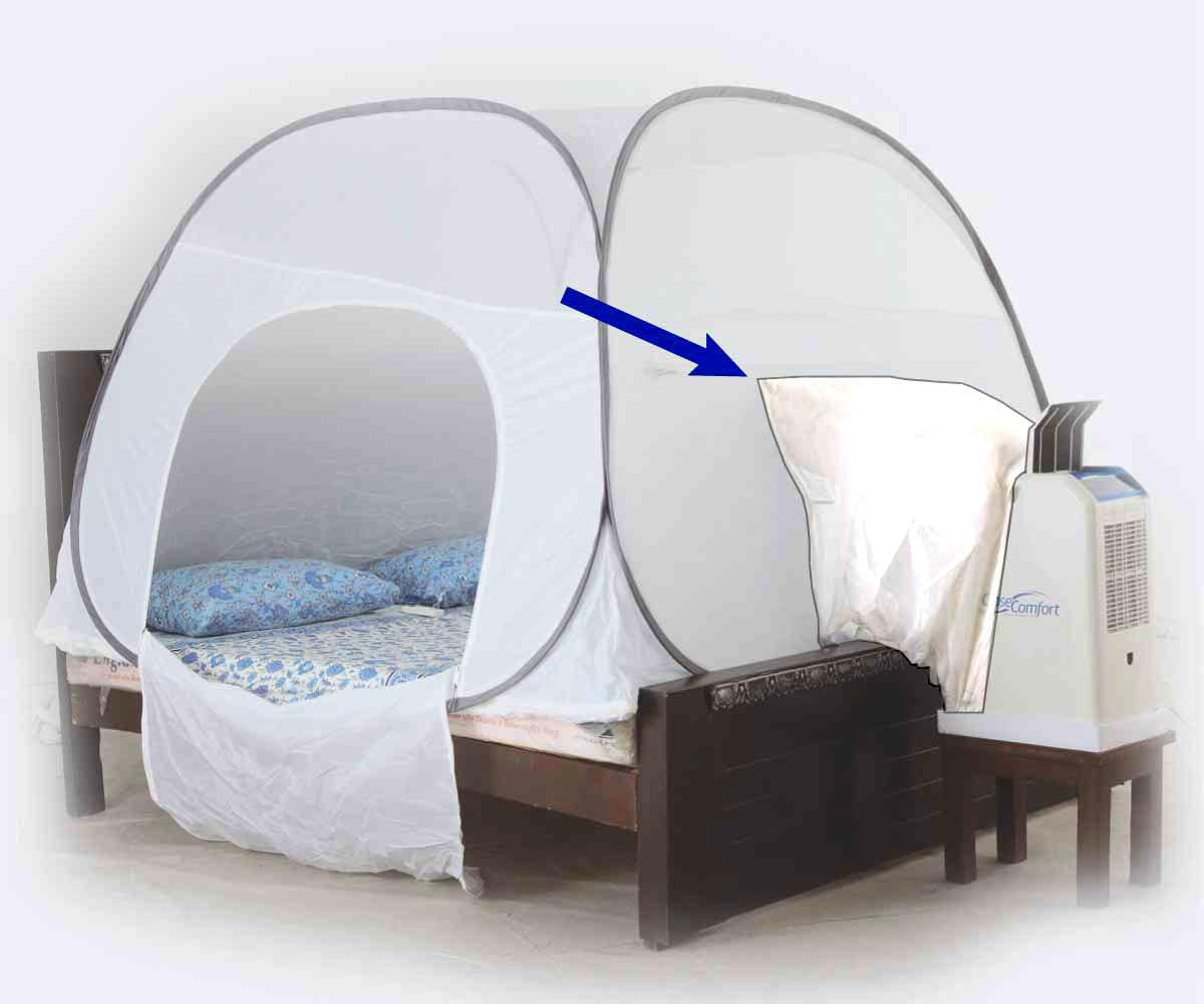 High foot board tent adapter for Igloo tent