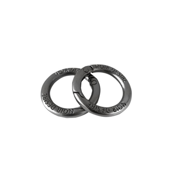 Open rings 2 stk. - Matt grey