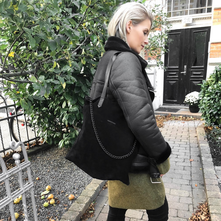 ND folded bag pinstripe læder #1 - Crossbody & skuldertaske