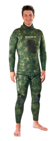 Mares Pure Instinct Neoprene Camo Green 3.5mm Pants and Jacket Combo
