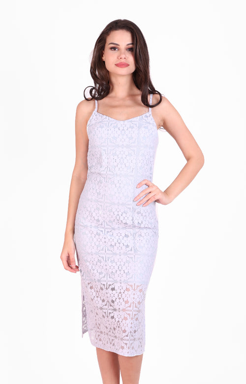 Valentina Dress in Powder Blue Lace