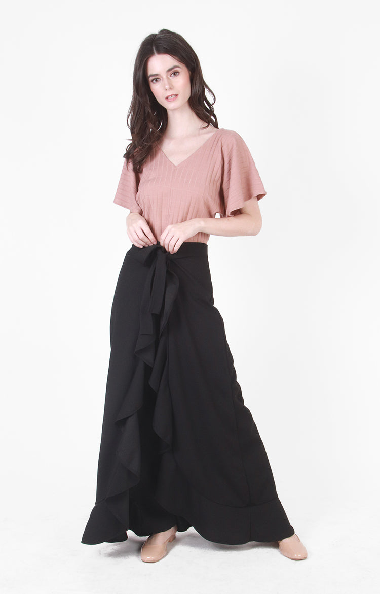 Robin Wrap Pants In Black