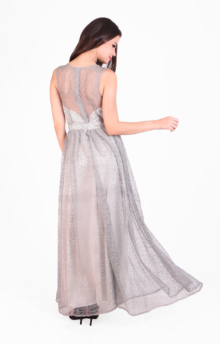 Kianna Gown in Silver
