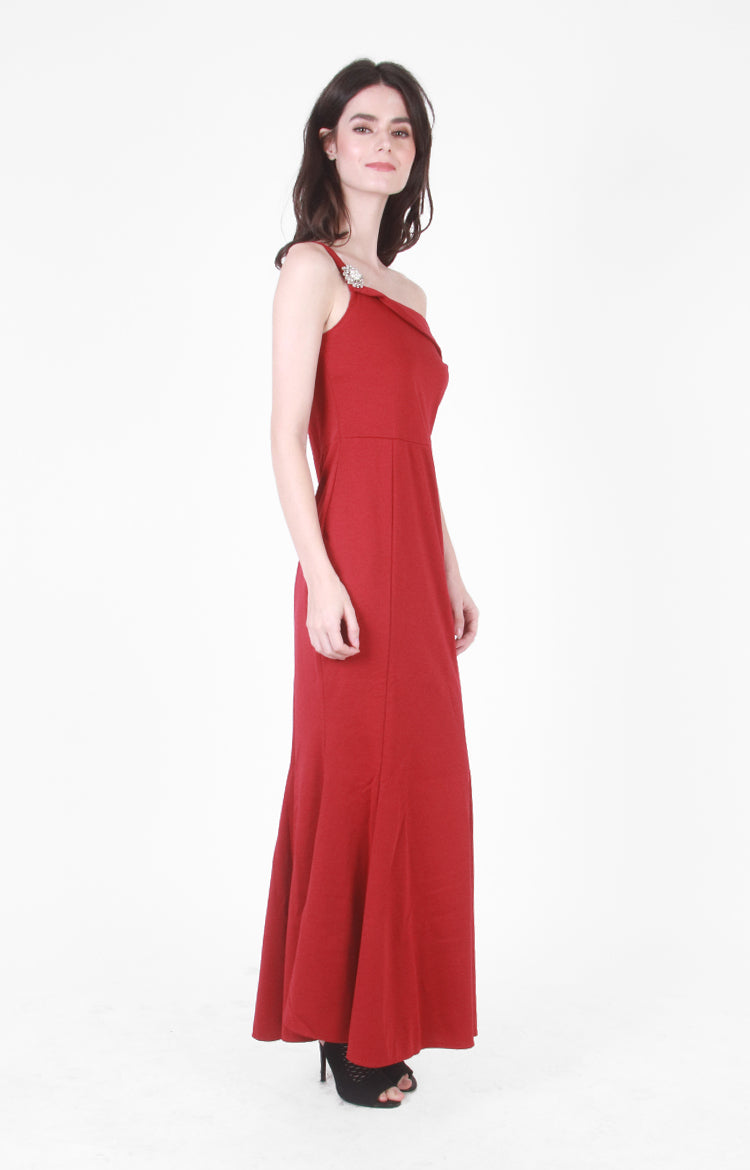 Nicolette Evening Gown in Red