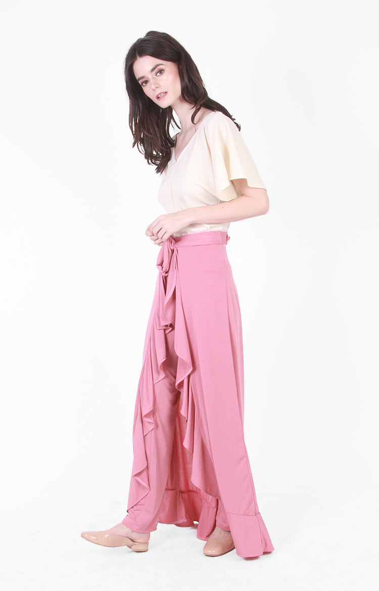 Robin Wrap Pants In Pink
