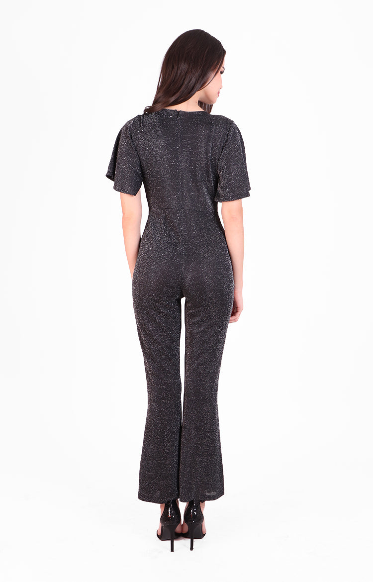 Lulu Party Jumpsuit in Sparkling Black