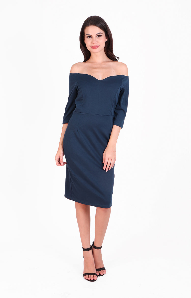 Giovanna Dress in Blue