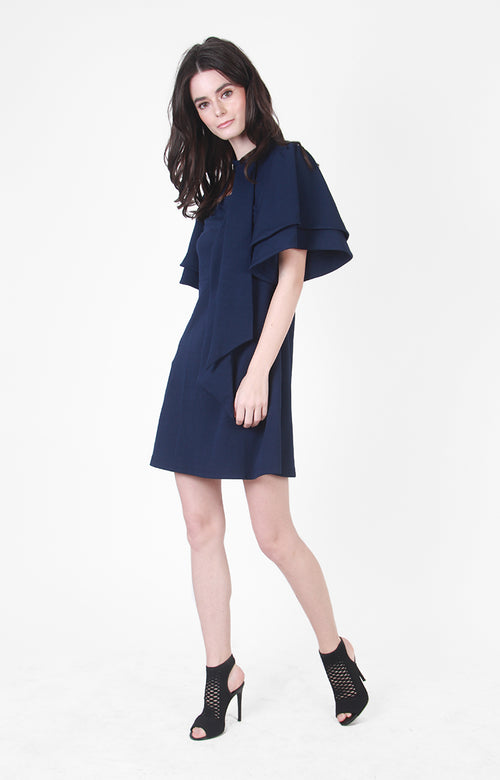 Elizabeth A-Line Dress In Navy