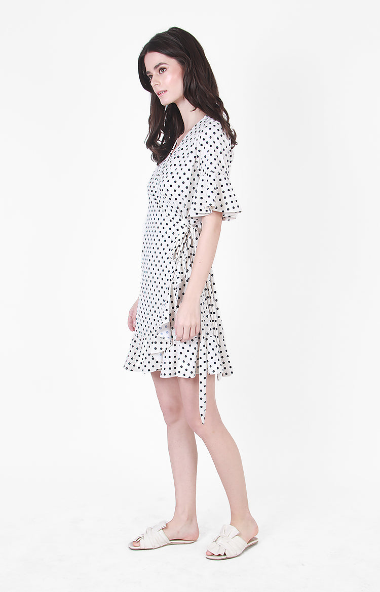 Sydney Wrap Dress in Polka Dot