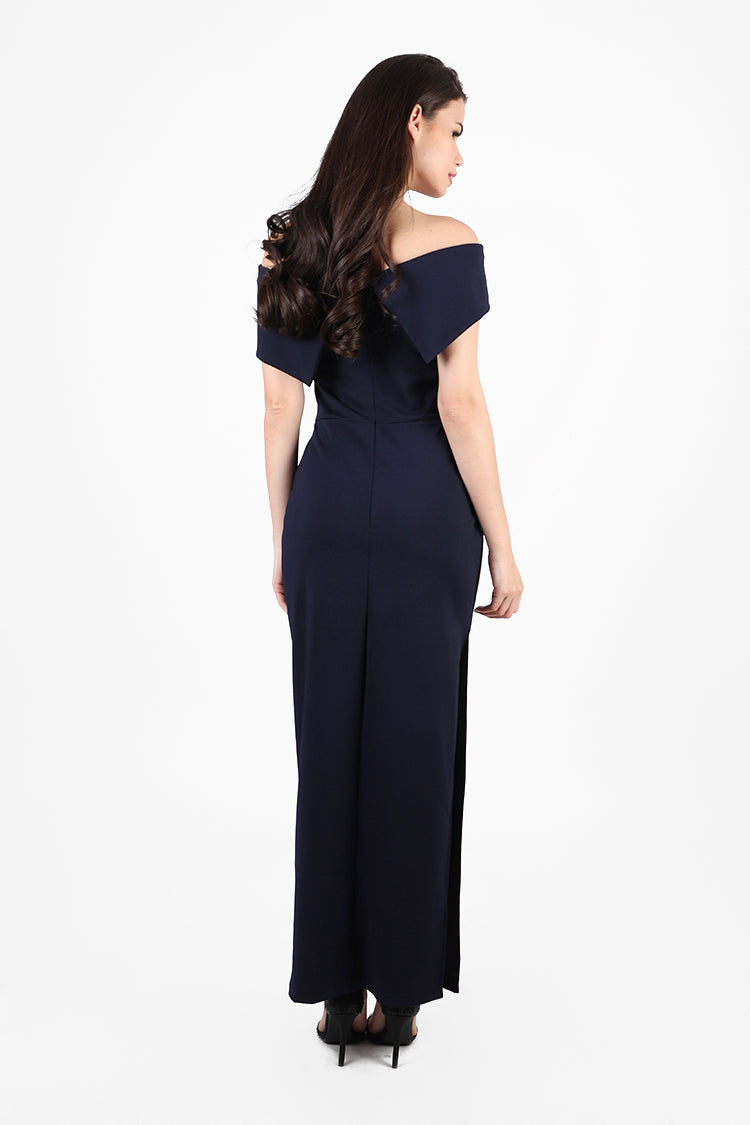 Donatella Gown/ Maxi Dress in Midnight Blue