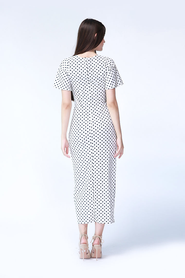 Ashley Maxi Dress in Polka Dot